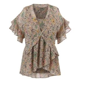 Cabi floral Poet blouse size medium style #5344